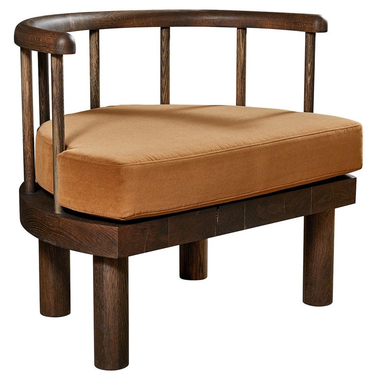 Oxidized White Oak Spindle Back Bone Chair by Casey McCafferty For Sale
