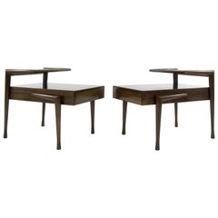 John Keal for Brown Saltman Mahogany Side Tables