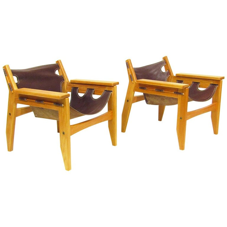 "Two 1970s ""Kilin"" Lounge Chairs by Sergio Rodrigues for OCA For Sale"