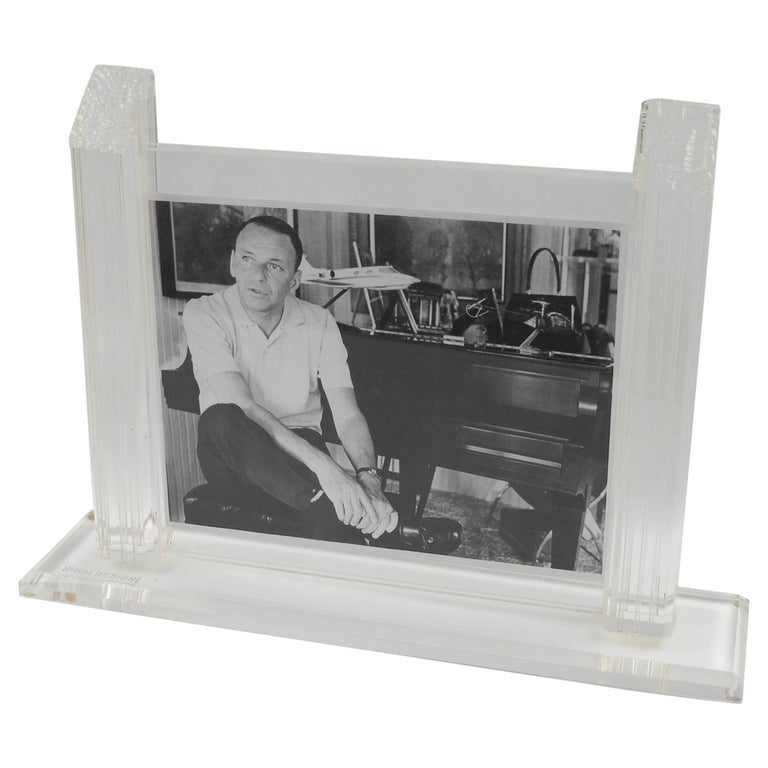1980s Italian Lucite Picture Frame For Sale