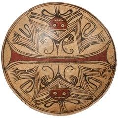 Earthenware Bat Pedestal Dish, Coclé Culture, Panama, 600-800 A.D.