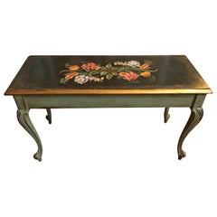 Vintage Hand Painted Piano Bench