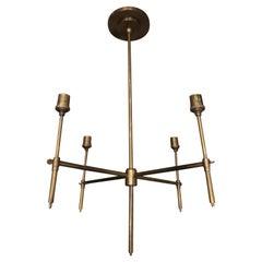 Minimalist Modern Four-Arm Chandelier