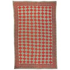 Oversized Vintage American Rag Rug