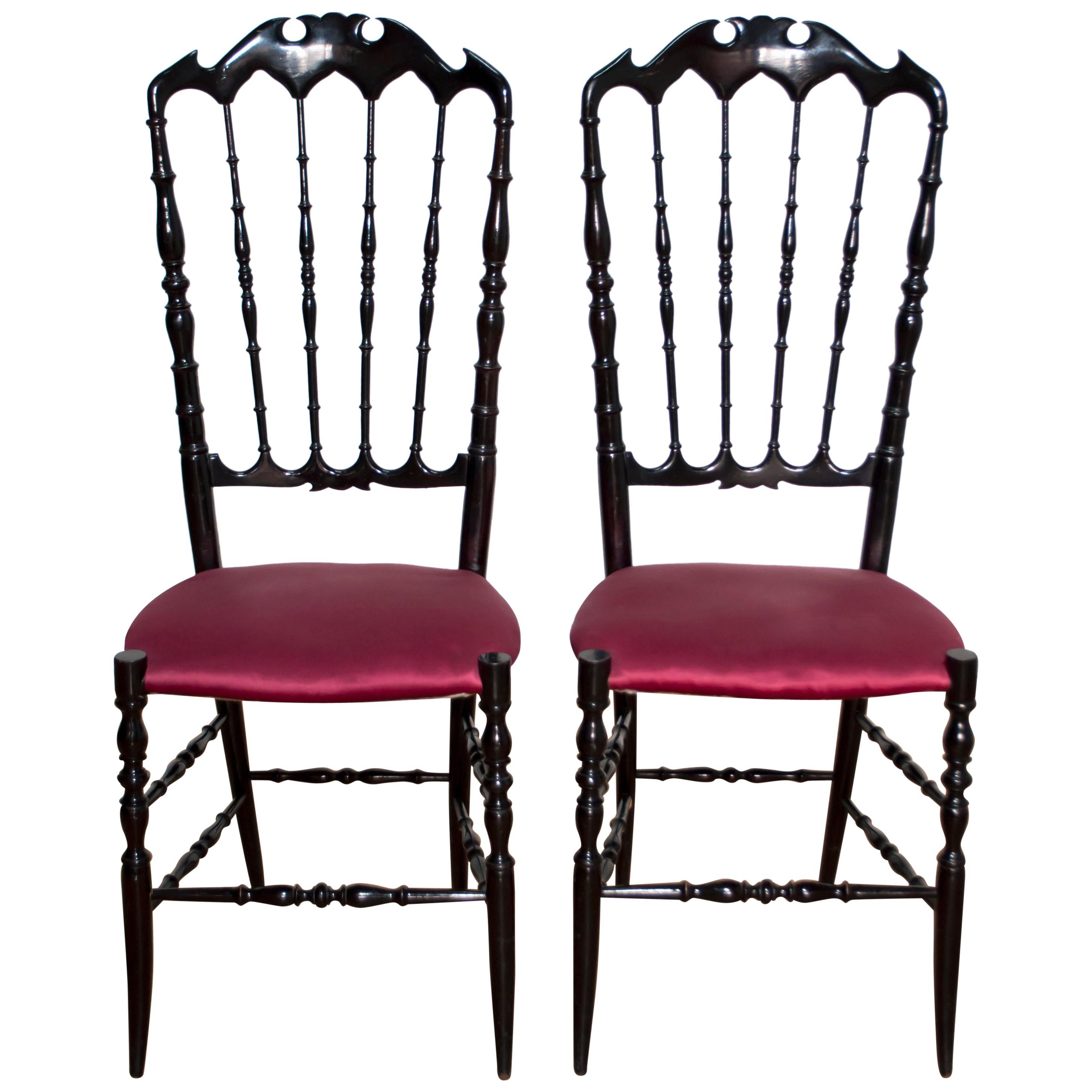 Fashion Style Lovely Pair Of Italian Chiavari Brass Chairs 1950s The Latest Fashion Furniture Chairs