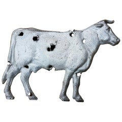 Mid-20th Century American Zinc Weather Vane Cow Figure