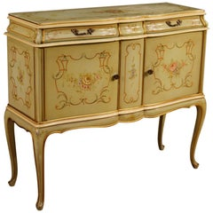 20th Century Lacquered, Gilded And Painted Wood Venetian Sideboard, 1960