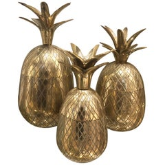 Vintage Brass Pineapples