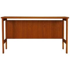 Scandinavian Design Writing Desk Teak Retro