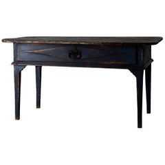 Table Swedish Black Blue, 19th Century, Sweden