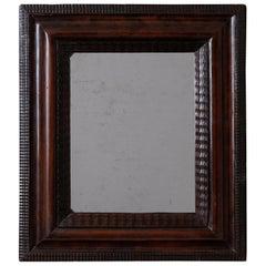 Wall Mirror Swedish Walnut Baroque Brown Frame, Sweden