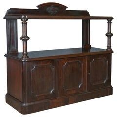 Antique Buffet Sideboard, English, Victorian, Mahogany, Server, circa 1880
