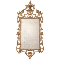 George III Chippendale Giltwood Mirror