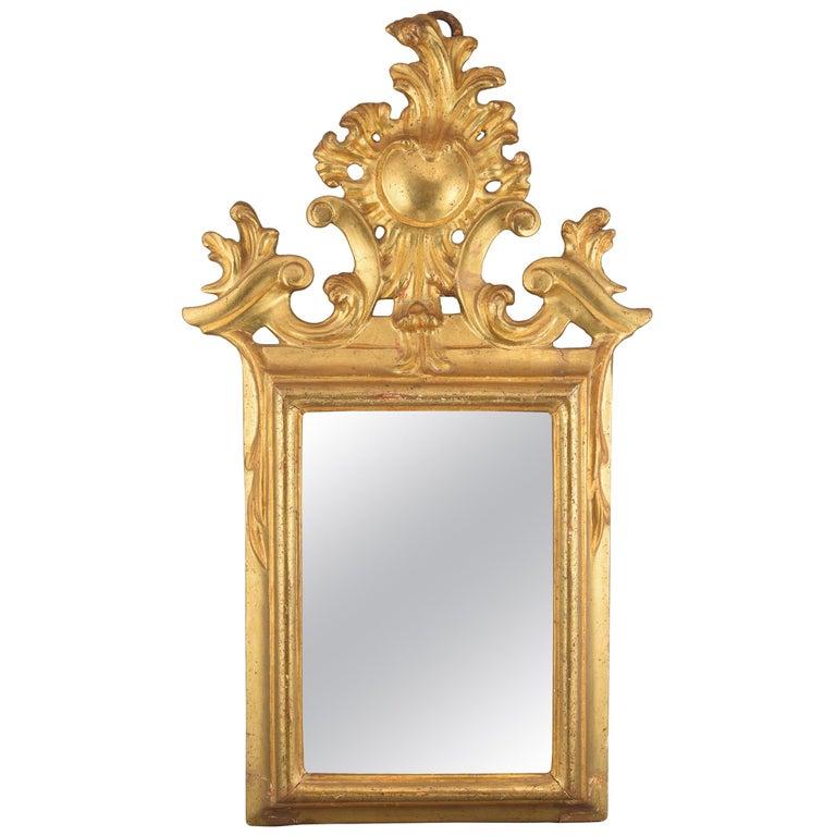 Ornamental Mirror Frame, Giltwood, 18th Century For Sale