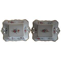 Two Antique Old Paris Porcelain Presentation Dishes, France, circa 1880