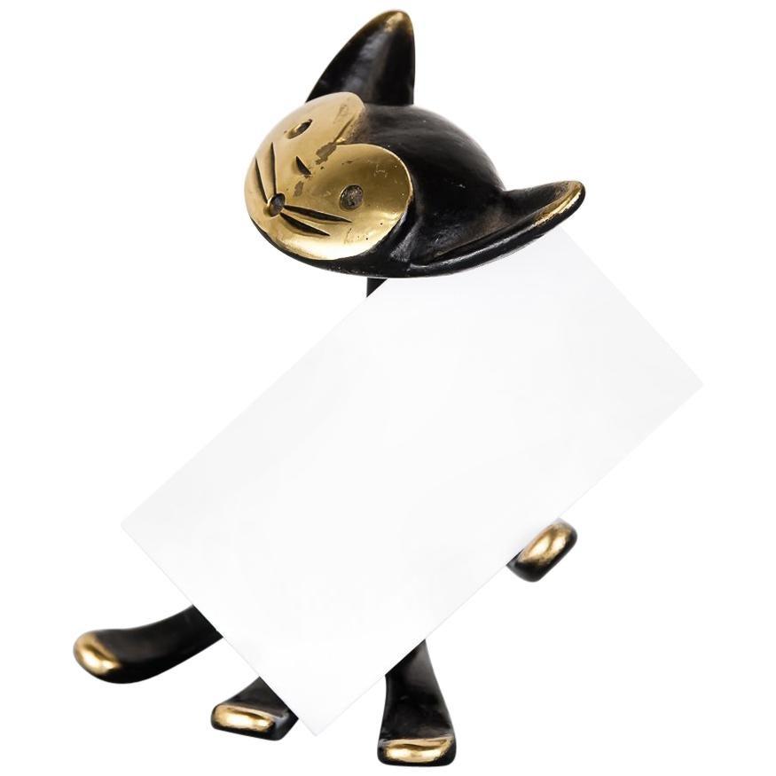 Walter Bosse Cat Business Card Holder