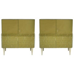 In the Style of Mid-Century Modern Pair of Italian Sideboards