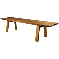 Dining Table in Solid Cherry and Iroko Wood, Designed by Max Frommeld