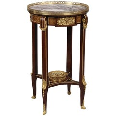 Mahogany and Parquetry Inlaid Gueridon by François Linke, circa 1910