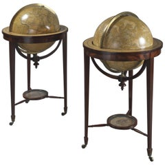 Fine Pair of Library Globes by Smith & Son, circa 1850