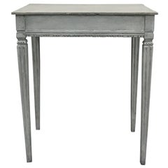 Antique Gustavian Style Side Table, Late 19th Century