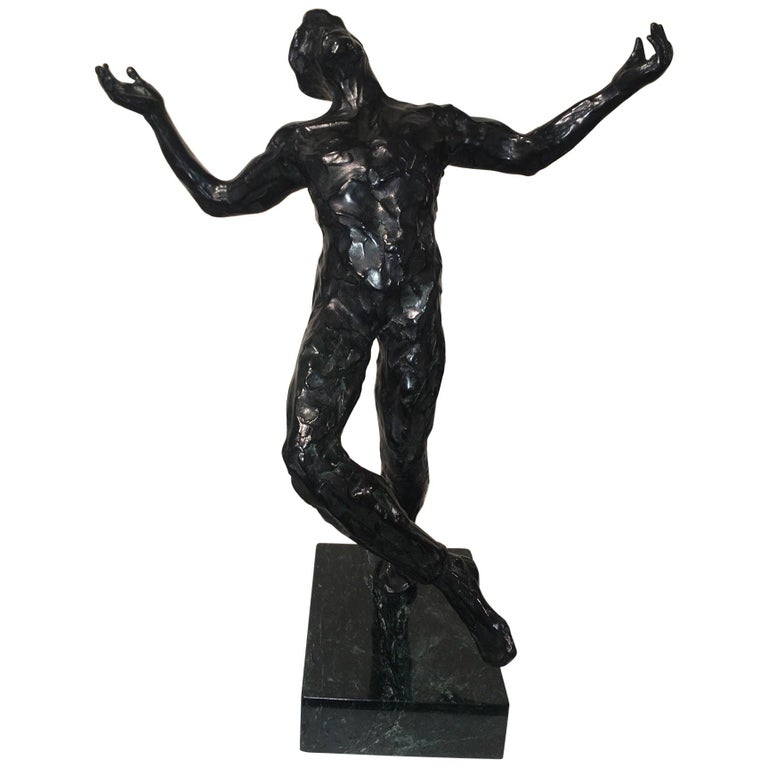 "Anthony Quinn ""Song of Zorba"" Bronze Sculpture, 1984 For Sale"