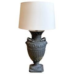 19th Century Basalt Style Amphora Table Lamp