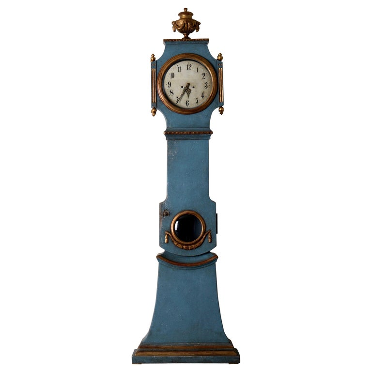 Swedish grandfather clock, 1790–1810, offered by Laserow Antiques