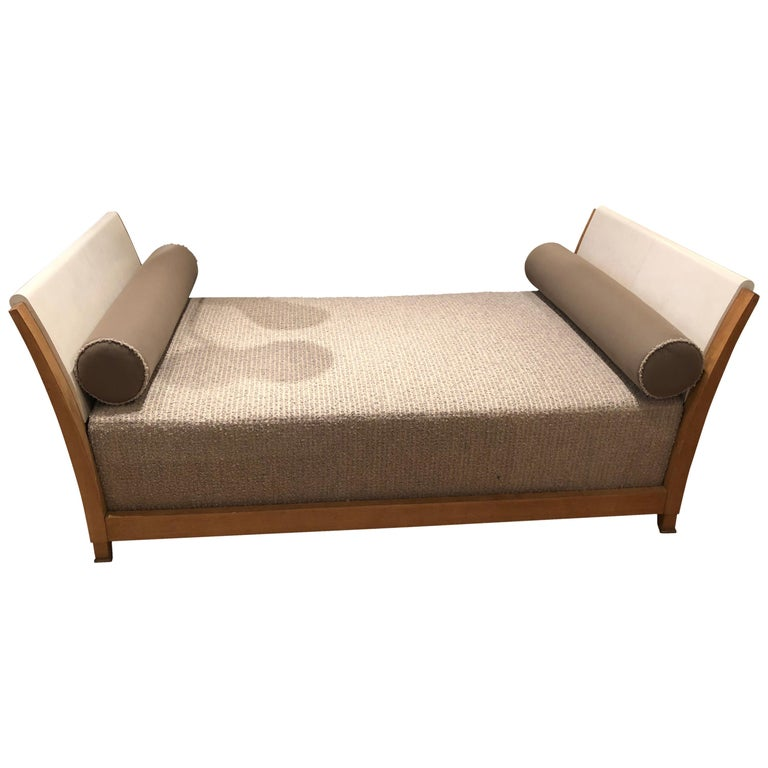 Important Parchment Daybed by Jansen For Sale