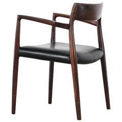 Niels O. Møller Carver Chair Model 57 by J.L Møllers Møbelfabrik, Denmark, 1959