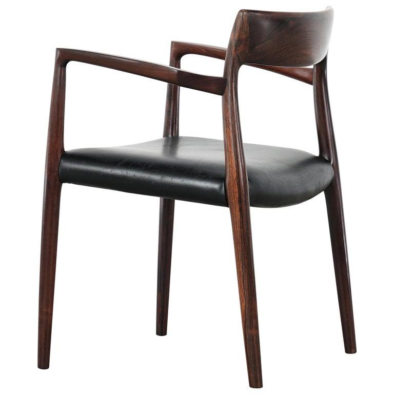 Niels O. Møller Carver Chair Model 57 by J.L Møllers Møbelfabrik, Denmark, 1959 For Sale