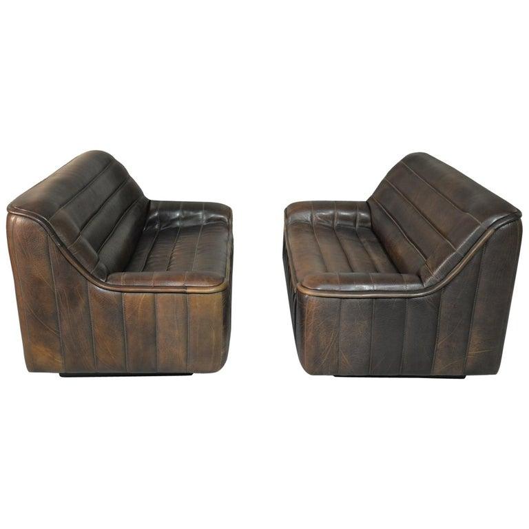 Vintage De Sede DS 84 Leather Sofas, Switzerland 1970s For Sale