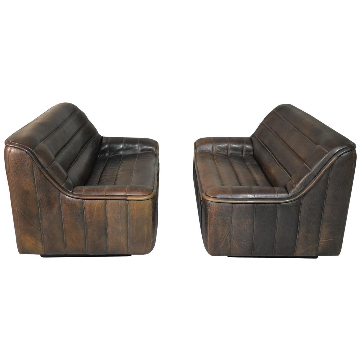 Vintage De Sede DS 84 Leather Sofas, Switzerland 1970s