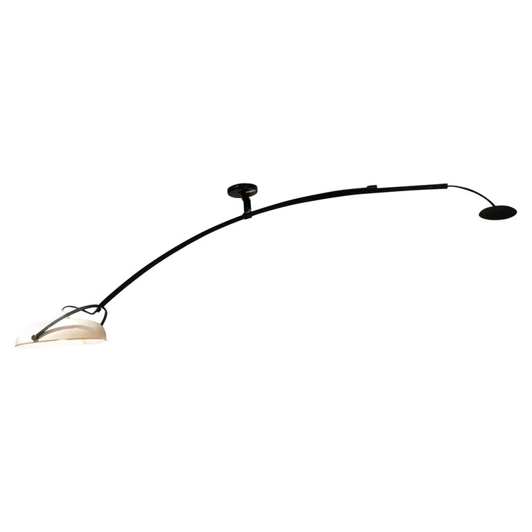 Large Italian Counterweight Light Fixture For Sale