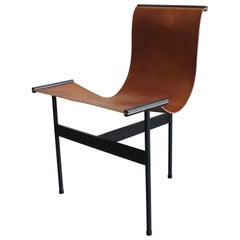 Leather and Steel Sling Chair