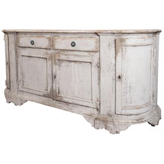 19th Century French Provincial Painted Enfilade