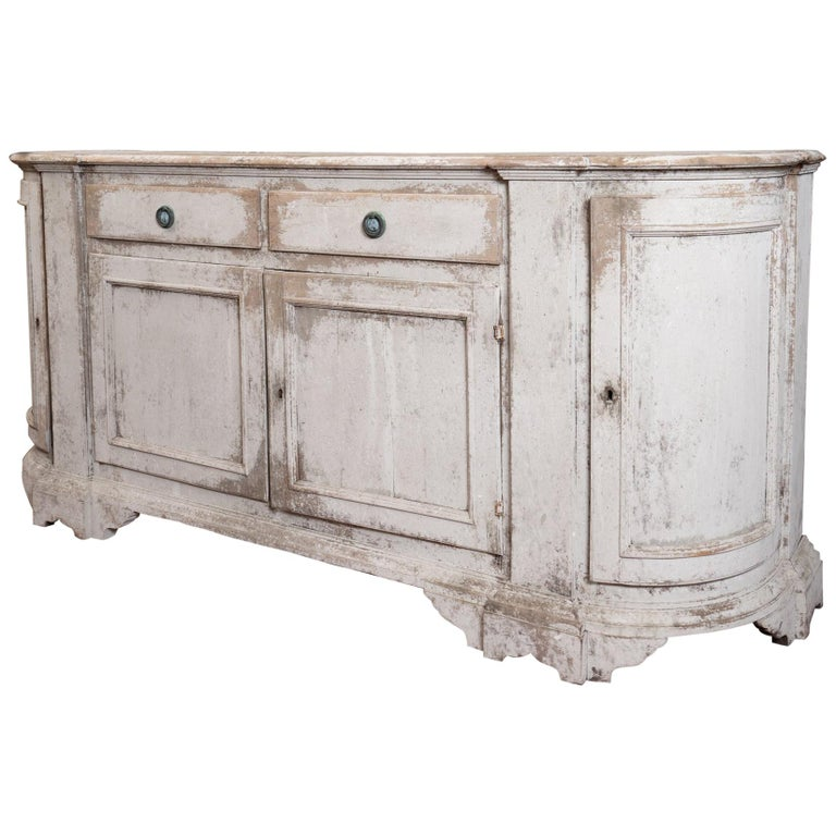 19th Century French Provincial Painted Enfilade For Sale