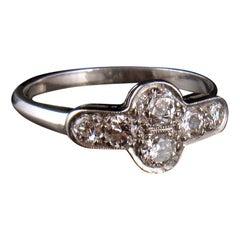 Art Deco Platinum and Diamond Ring, Size L