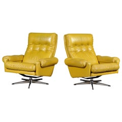 Set of Two Swedish Swivel Chairs from Lystolet, Sweden, 1975