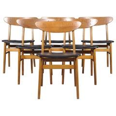 Set of Six Farstrup Møbelfabrik Teak Danish Modern Dining Chairs, 1960s