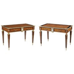 Pair of 19th Century Trellis and Dot Tables Attributed to Donald Ross