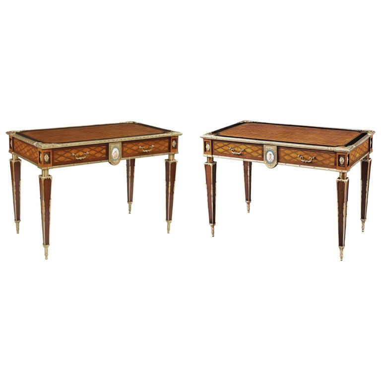 Pair of 19th Century Trellis and Dot Tables Attributed to Donald Ross For Sale