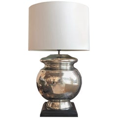 20th Century Silvered Glass Table Lamp