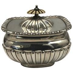 Antik Silber Teedose