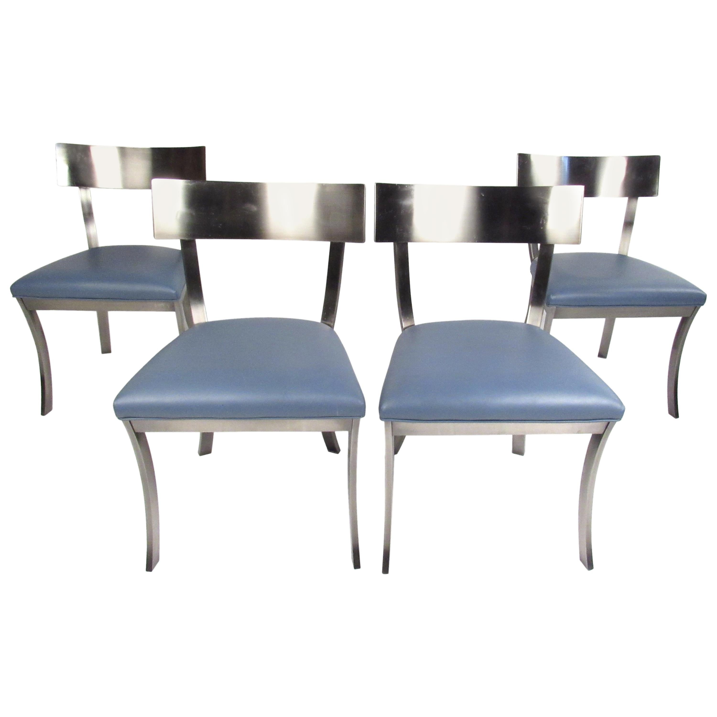 Set of Four Metal Dining Chairs by Design Institute of America