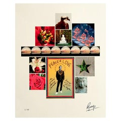 """""""Peace & Love"""" Signed Limited Edition Unframed Print by Ringo Starr"""