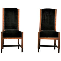 Pair of Swedish Art Deco Chairs, Sweden, 1930s