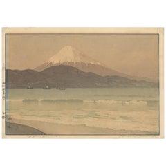 Shin Hanga, Original Japanese Woodblock Print, Hiroshi Yoshida, Fuji, Ocean