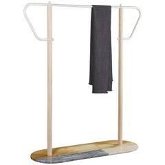Garment Rack with Marble Base, Designed by Max Frommeld