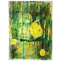 Yellow Abstract Modern Painting